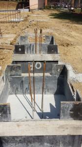 Têtes de puits avec aciers en attente
